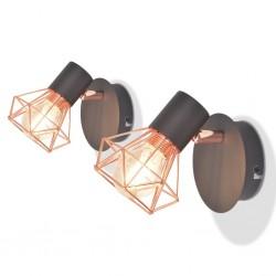 stradeXL 2 Lampy ścienne z 2 diodami LED w formie żarówek, 8 W