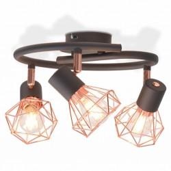 stradeXL Lampa sufitowa z 3 żarówkami z diodami LED, 12 W