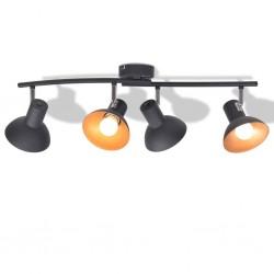 stradeXL Lampa sufitowa na 4 żarówki E27, czarno-złota