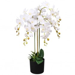 stradeXL Artificial Orchid Plant with Pot 75 cm White