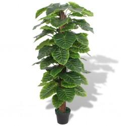 stradeXL Sztuczna roślina kolokazja z doniczką, 145 cm, kolor zielony