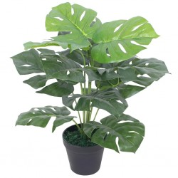 stradeXL Artificial Monstera Plant with Pot 45 cm Green