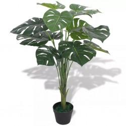 stradeXL Sztuczna roślina monstera z doniczką, 70 cm, kolor zielony