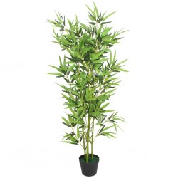 stradeXL Artificial Bamboo Plant with Pot 120 cm Green