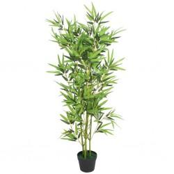 stradeXL Sztuczny bambus z doniczką, 120 cm, zielony
