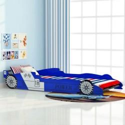 stradeXL Łóżko dziecięce w kształcie samochodu, 90x200 cm, niebieski