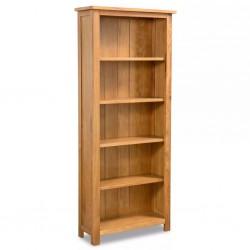 stradeXL Regał na książki z 5 półkami, 60 x 22,5 x 140 cm, drewno dębowe