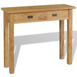 stradeXL Stolik-konsola, lite drewno tekowe, 90 x 30 x 80 cm