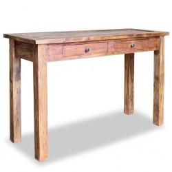 stradeXL Stolik konsola, lite drewno z odzysku, 123 x 42 x 75 cm