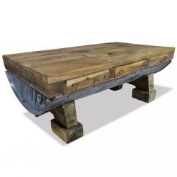 stradeXL Stolik kawowy z litego drewna z odzysku, 90x50x35 cm
