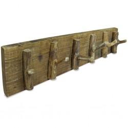 stradeXL Wieszak na płaszcze, lite drewno z odzysku, 60 x 15 cm