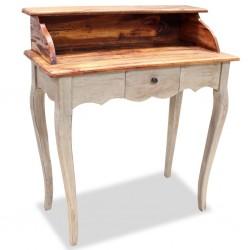 stradeXL Biurko, lite drewno z odzysku, 80 x 40 x 92 cm