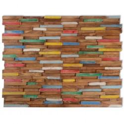 stradeXL Panele okładzinowe ścienne 1 m², drewno tekowe, 10 szt