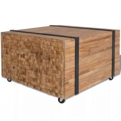 stradeXL Stolik boczny z drewna tekowego, 60 x 60 x 38 cm