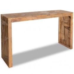 stradeXL Stolik-konsola, zerodowane drewno tekowe, 120 x 35 x 76 cm