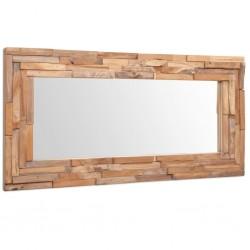 stradeXL Lustro dekoracyjne, drewno tekowe, 120 x 60 cm, prostokątne