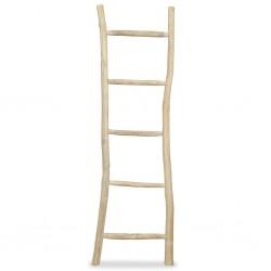 stradeXL Towel Ladder with 5 Rungs Teak 45x150 cm Natural