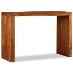stradeXL Stolik konsola, lite drewno o wyglądzie sheesham, 110x40x76 cm