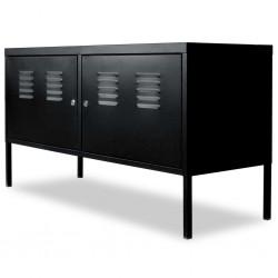 stradeXL Szafka pod telewizor, 118 x 40 x 60 cm, czarna