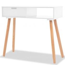 stradeXL Stolik typu konsola, drewno sosnowe, 80x30x72 cm, biały