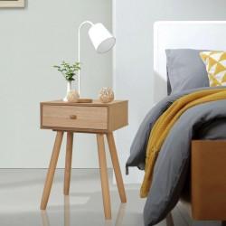 stradeXL Szafki nocne, 2 szt., drewno sosnowe, 40 x 30 x 61 cm, brązowe