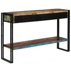 stradeXL Stolik konsola z litego drewna odzyskanego, 120 x 30 x 76 cm
