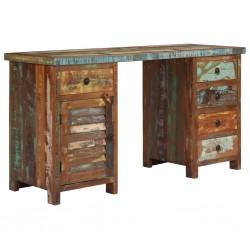 stradeXL Biurko z szafką i szufladami, drewno z odzysku, 140x50x77 cm