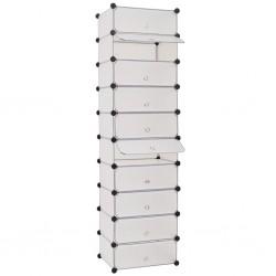 stradeXL Interlocking Shoe Organiser with 10 Compartments White