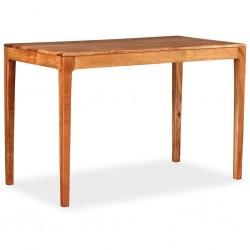 stradeXL Stół do jadalni z litego drewna, 118 x 60 x 76 cm