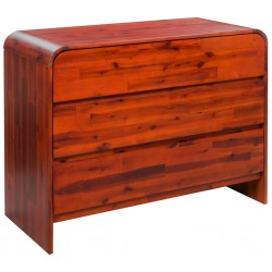 stradeXL Komoda z litego drewna akacjowego, 90 x 37 x 75 cm