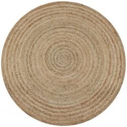 stradeXL Dywan pleciony z juty, 90 cm, okrągły