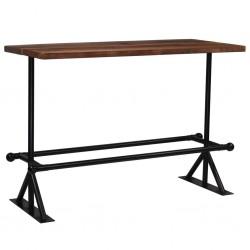 stradeXL Stół barowy, lite drewno z odzysku, ciemny brąz, 150x70x107 cm