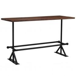 stradeXL Stół barowy, lite drewno z odzysku, ciemny brąz, 180x70x107 cm