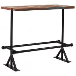 stradeXL Stolik barowy z drewna z odzysku, wielokolorowy, 120x60x107 cm
