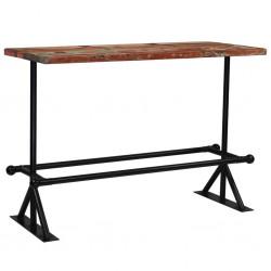 stradeXL Stolik barowy, lite drewno z odzysku, kolorowy, 150x70x107 cm