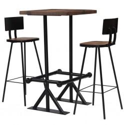 stradeXL 3-częściowy zestaw mebli barowych, lite drewno z odzysku
