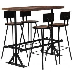 stradeXL 5-częściowy zestaw mebli barowych, lite drewno z odzysku