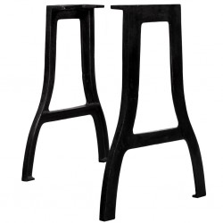 stradeXL Nogi do stołu jadalnianego, 2 szt., kształt litery A, żeliwo