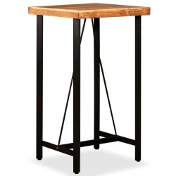 stradeXL Stolik barowy, drewno akacjowe, 60x60x107 cm
