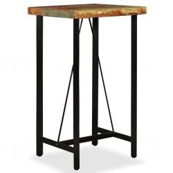 stradeXL Stolik barowy, lite drewno z odzysku, 60x60x107 cm