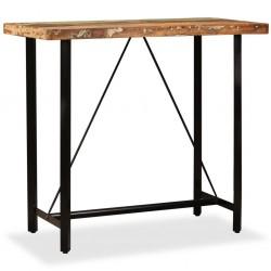 stradeXL Stolik barowy z litego drewna odzyskanego, 120 x 60 x 107 cm