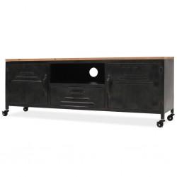 stradeXL Szafka pod telewizor, 120 x 30 x 43 cm, czarna