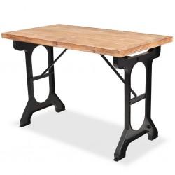 stradeXL Stół jadalniany, blat z litego drewna jodłowego, 122x65x82 cm