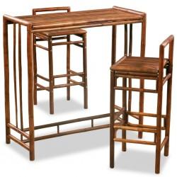stradeXL 3-częściowy zestaw mebli bambusowych, brązowy