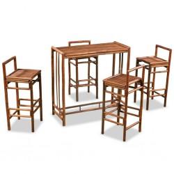 stradeXL 5-częściowy zestaw mebli bambusowych, brązowy