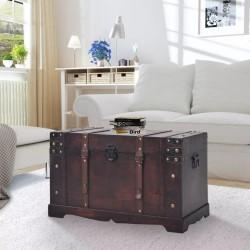 stradeXL Skrzynia w stylu vintage, drewniana, 66 x 38 x 40 cm
