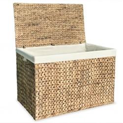 stradeXL Laundry Basket 82x42.5x52.5 cm Water Hyacinth