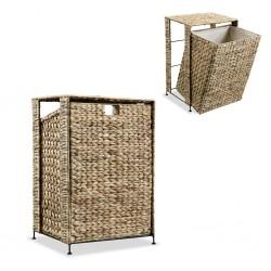 stradeXL Laundry Basket 44x34x64 cm Water Hyacinth