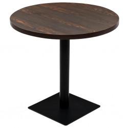 stradeXL Stolik bistro z MDF, stalowa podstawa, 80x75 cm, ciemny jesion