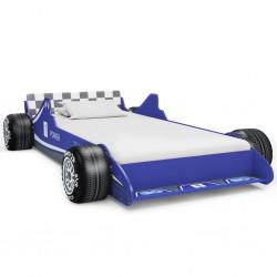 stradeXL Łóżko dziecięce w kształcie samochodu, 90x200 cm, niebieskie